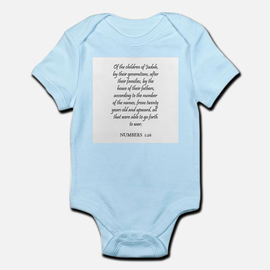 NUMBERS  1:26 Infant Creeper