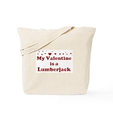 Valentine: Lumberjack Tote Bag