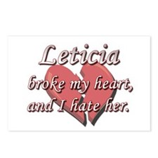 Leticia broke my heart and I hate her Postcards (P