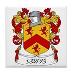Lewys Coat of Arms Tile Coaster