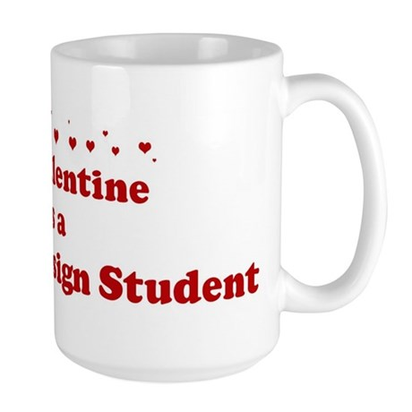 Valentine: Graphic Design Stu Large Mug