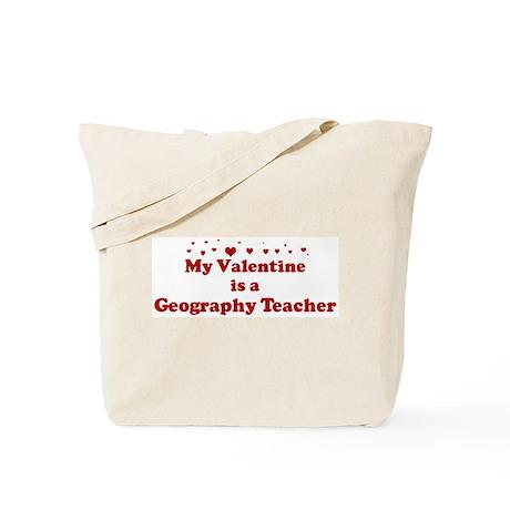 Valentine: Geography Teacher Tote Bag