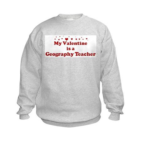 Valentine: Geography Teacher Kids Sweatshirt