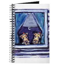 IRISH TERRIER xmas Santa Hat Journal