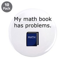 """Math Book 3.5"""" Button (10 pack)"""