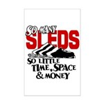 So Little Time, Space & Money Mini Poster Print