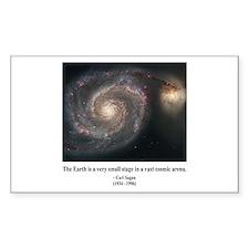 Carl Sagan A Rectangle Decal