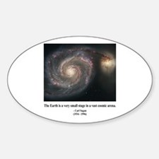 Carl Sagan A Oval Decal