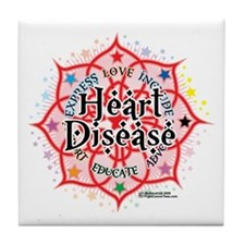Heart Disease Lotus Tile Coaster