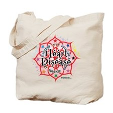 Heart Disease Lotus Tote Bag