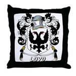Loyd Coat of Arms Throw Pillow