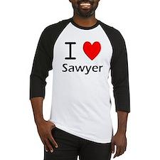 I Love Sawyer Baseball Jersey
