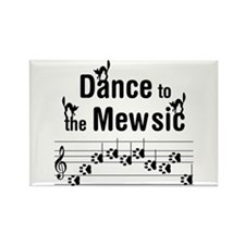 Dance to the Mew Music Rectangle Magnet