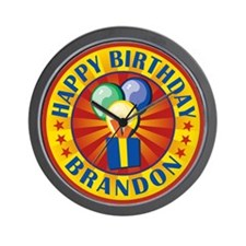 Happy Birthday Brandon Wall Clock