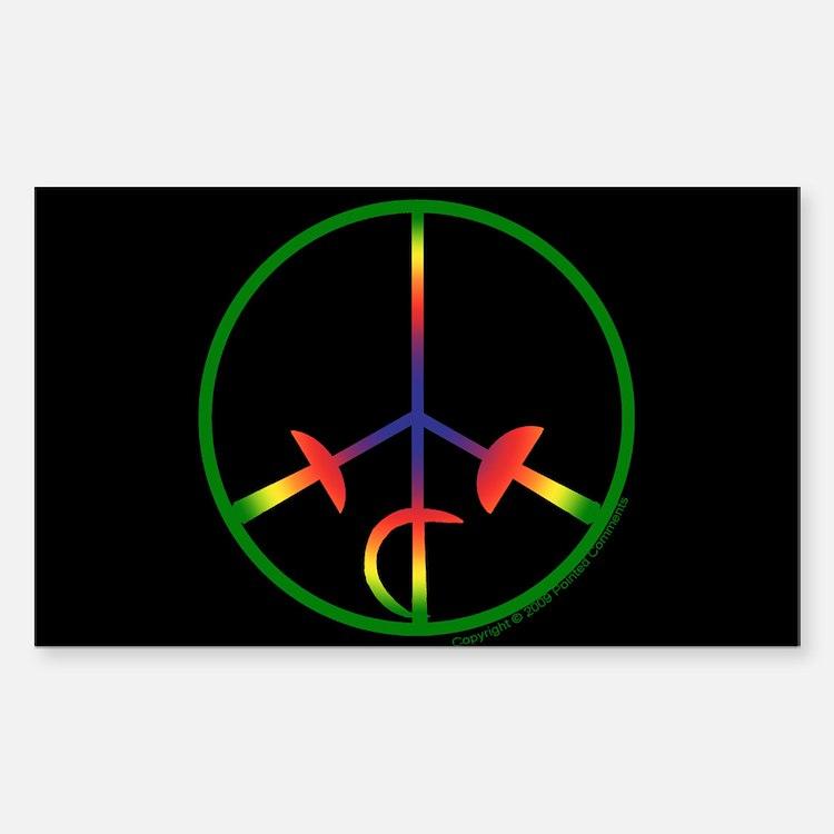 Bright Spectrum Sticker - Black (Rectangle)
