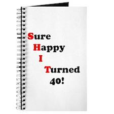 Cute Turning 40 Journal
