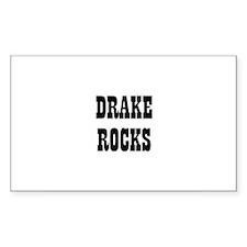 DRAKE ROCKS Rectangle Decal