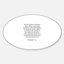 NUMBERS 1:20 Oval Decal