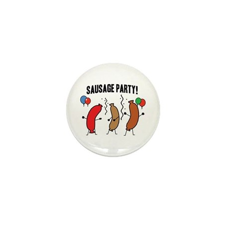 Sausage Party Mini Button