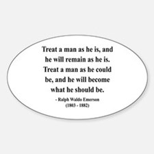 Ralph Waldo Emerson 16 Oval Decal