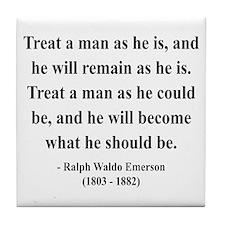 Ralph Waldo Emerson 16 Tile Coaster