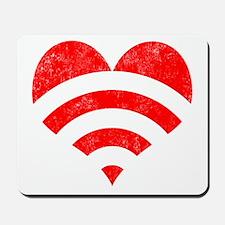 Wi-Fi Love Heart Mousepad