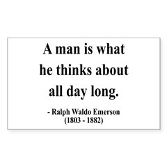 Ralph Waldo Emerson 9 Rectangle Decal
