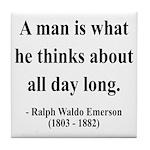Ralph Waldo Emerson 9 Tile Coaster
