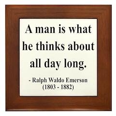 Ralph Waldo Emerson 9 Framed Tile