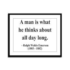 Ralph Waldo Emerson 9 Framed Panel Print