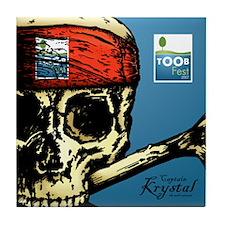 Pirate Tile Coaster - Krystal