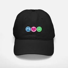 Peace Love Happiness Baseball Hat