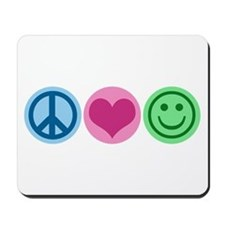 Peace Love Happiness Mousepad