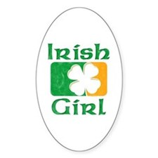 Irish Girl Oval Decal