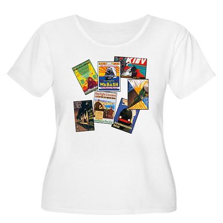 Railroad Women's Plus Size Scoop Neck T-Shirt