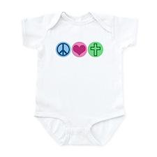 Peace Love God Infant Bodysuit