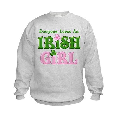 Loves An Irish Girl Kids Sweatshirt
