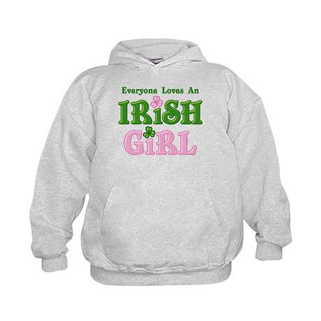 Loves An Irish Girl Kids Hoodie