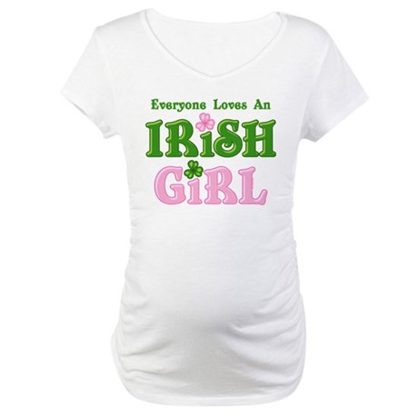 Loves An Irish Girl Maternity T-Shirt