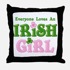 Loves An Irish Girl Throw Pillow