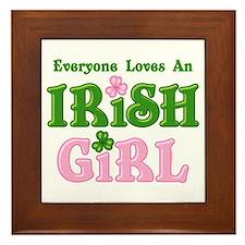 Loves An Irish Girl Framed Tile