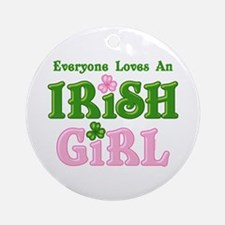 Loves An Irish Girl Ornament (Round)