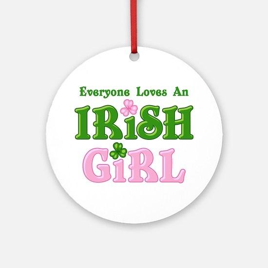 Loves An Irish Girl Ornament (Round)