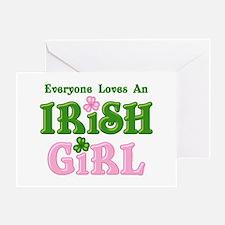 Loves An Irish Girl Greeting Card