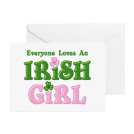 Loves An Irish Girl Greeting Cards (Pk of 10)