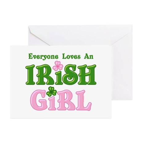 Loves An Irish Girl Greeting Cards (Pk of 20)