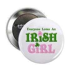 """Loves An Irish Girl 2.25"""" Button"""