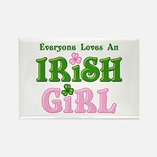 Loves An Irish Girl Rectangle Magnet