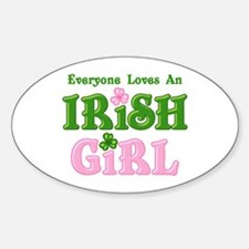 Loves An Irish Girl Oval Decal