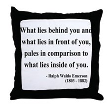 Ralph Waldo Emerson 11 Throw Pillow